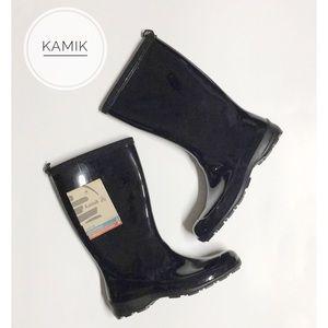 KAMIK • NWT Black Heidi Rain Boots Size 6